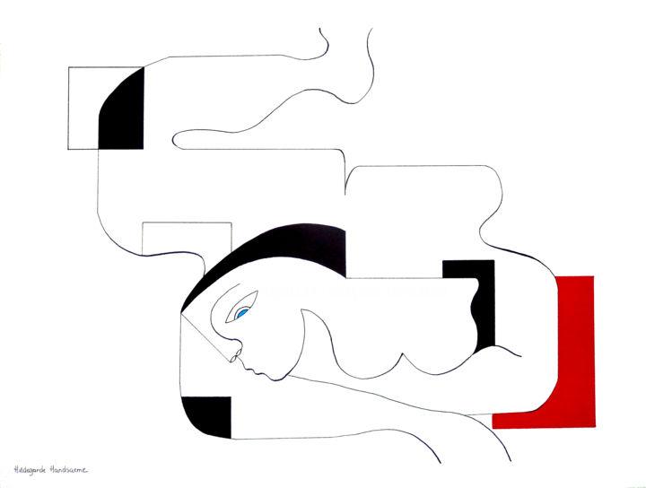 Hildegarde Handsaeme - Sensualité with red