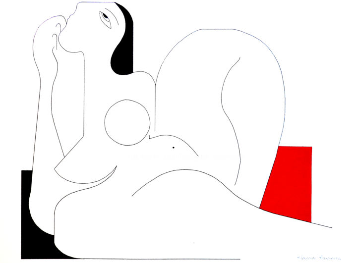 Hildegarde Handsaeme - Féminine Concept with red